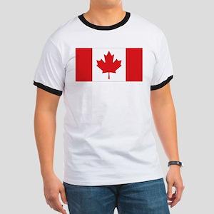 Canada National Flag Ringer T