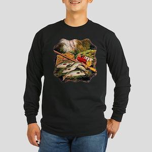 Brook Trout Long Sleeve Dark T-Shirt