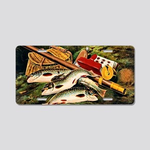 Brook Trout Aluminum License Plate