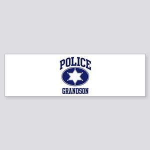 Police GRANDSON (badge) Bumper Sticker
