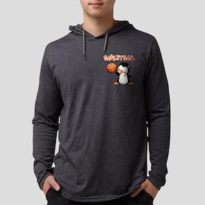 Basketball Penguin Mens Hooded Shirt
