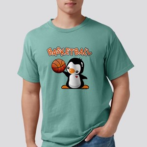 Basketball Penguin Mens Comfort Colors Shirt