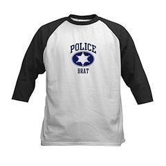 Police BRAT (badge) Kids Baseball Jersey