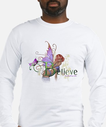 Believe Long Sleeve T-Shirt (white or grey)