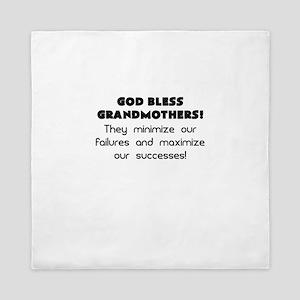 god bless grandmothers Queen Duvet