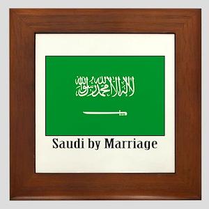 Saudi by Marriage Framed Tile