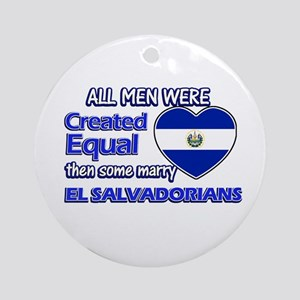El Salvadorian husband designs Ornament (Round)