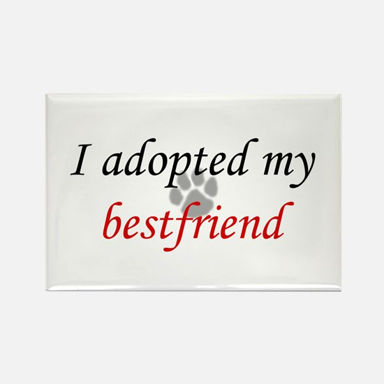 Adopted Bestfriend Rectangle Magnet
