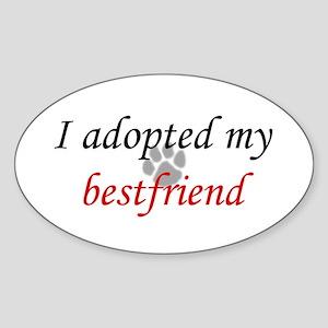Adopted Bestfriend Oval Sticker