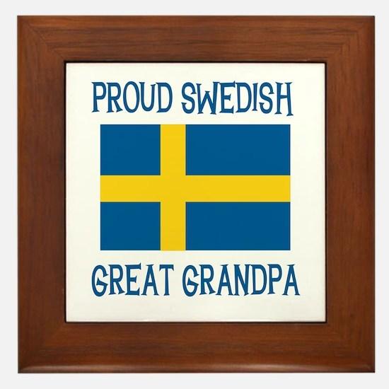 Swedish Great Grandpa Framed Tile
