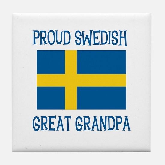 Swedish Great Grandpa Tile Coaster
