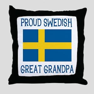 Swedish Great Grandpa Throw Pillow