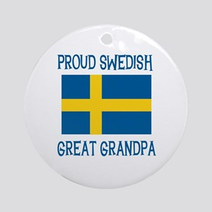 Swedish Great Grandpa Ornament (Round)