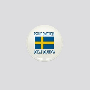 Swedish Great Grandpa Mini Button
