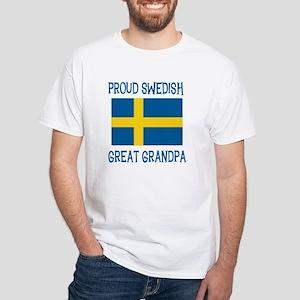 Swedish Great Grandpa White T-Shirt