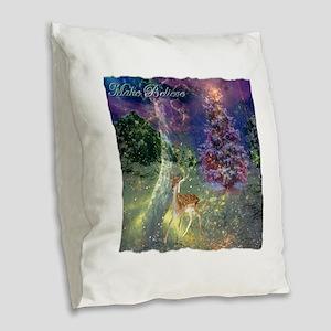 Make Believe Burlap Throw Pillow