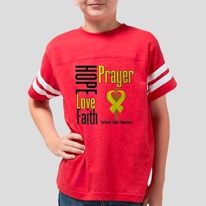 Testicular Cancer Hope Love F Youth Football Shirt