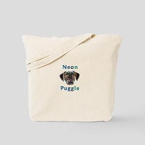 Neon Puggle Tote Bag