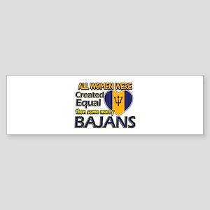 Bajans husband designs Sticker (Bumper)