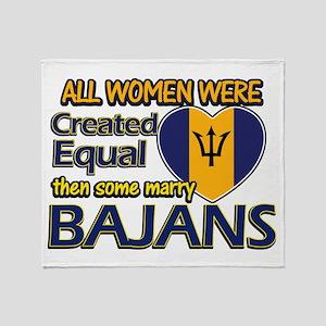 Bajans husband designs Throw Blanket