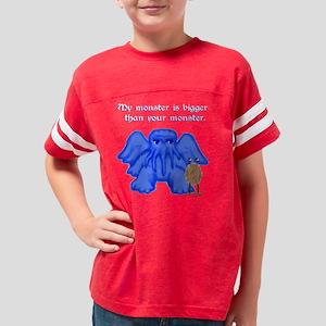 01blue-cthulhu-bigger-9x9-TRA Youth Football Shirt
