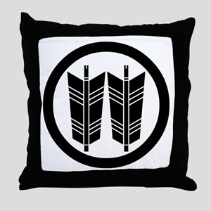 Two parallel arrows in circle Throw Pillow