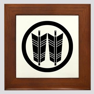 Two parallel arrows in circle Framed Tile