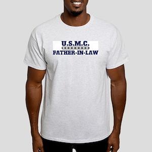 U.S.M.C.  FATHER-IN-LAW (Mari Ash Grey T-Shirt