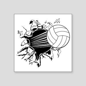 "Volleyball Square Sticker 3"" x 3"""