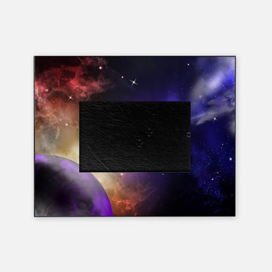 Universe with Planet and Stars Picture Frame