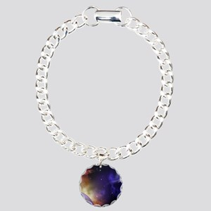 Universe with Planet and Charm Bracelet, One Charm