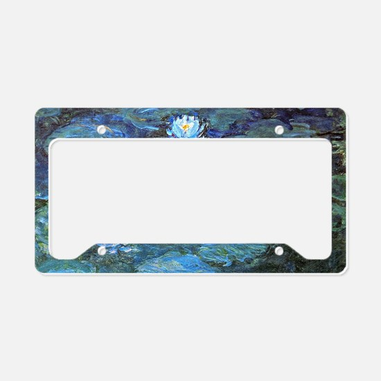 Claude Monet's Water Lilies - License Plate Holder
