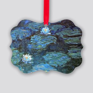 Claude Monet's Water Lilies - Blu Picture Ornament