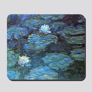 Claude Monet's Water Lilies - Blue Mousepad