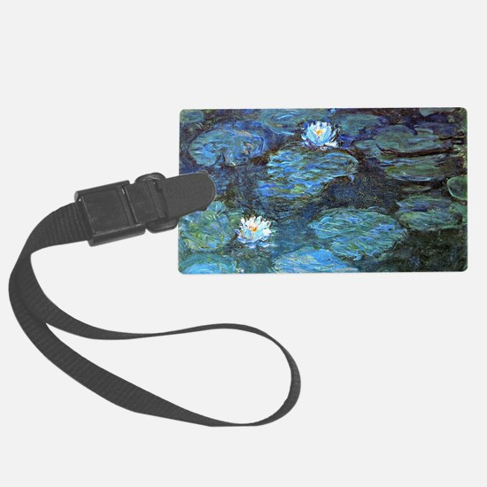 Claude Monet's Water Lilies - Bl Luggage Tag