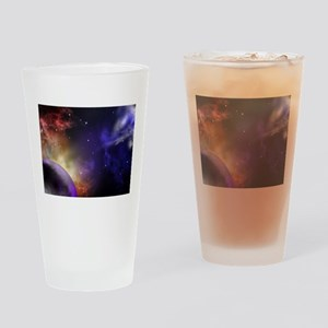 Universe with Planet and Stars Drinking Glass