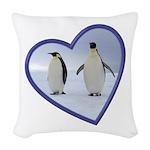 Emperor Penguins Woven Throw Pillow