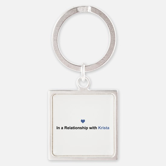 Krista Relationship Square Keychain