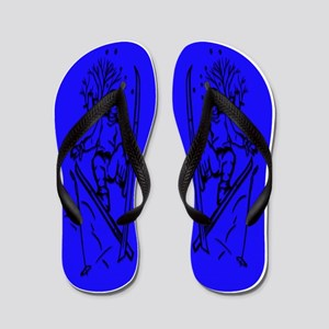 Flip-Flops-Men-Skiingi-Blue Flip Flops