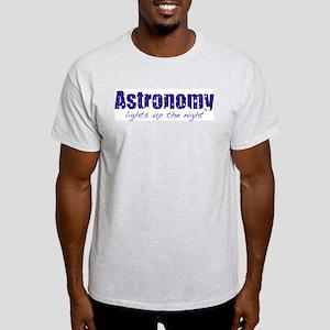 Astronomy Lights Up the Night Ash Grey T-Shirt