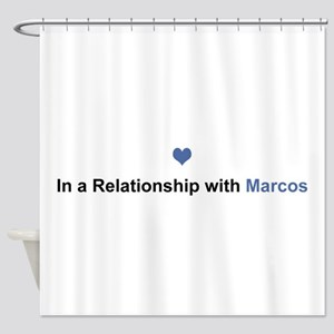 Marcos Relationship Shower Curtain