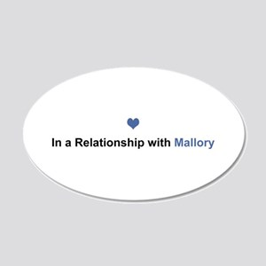 Mallory Relationship 20x12 Oval Wall Decal