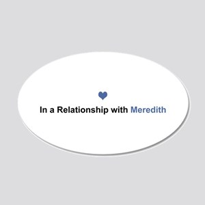 Meredith Relationship 20x12 Oval Wall Decal