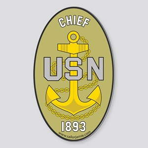 Chief Petty Officer 1893 Oval Sticker