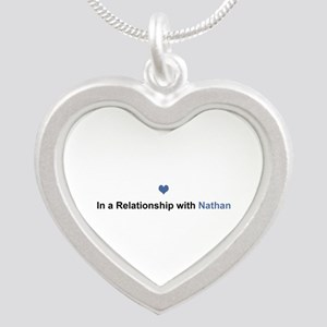 Nathan Relationship Silver Heart Necklace