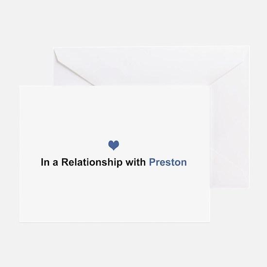 Preston Relationship Greeting Card