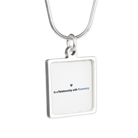 Rosemary Relationship Silver Square Necklace by namestuff