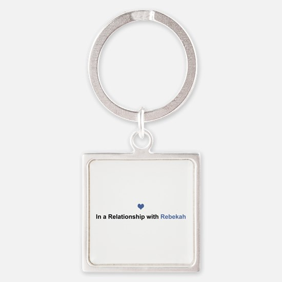 Rebekah Relationship Square Keychain