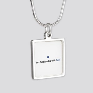 Tyler Relationship Silver Square Necklace