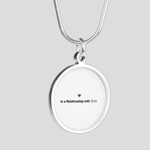 Tyler Relationship Silver Round Necklace